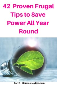 42 Proven Frugal Tips to Save Power all Year Round