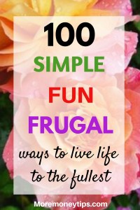 100 Simple Fun Frugal ways to live life to the fullest.