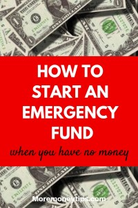 How to start an emergency fund when you have no money