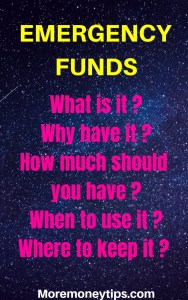 Emergency Funds. What are they?