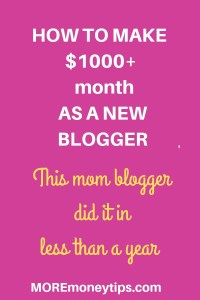 Make $1k per month as a new blogger