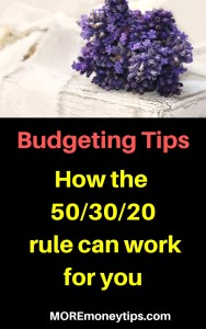 Budgeting Tips-How the 50/30/20 rule can work for you.