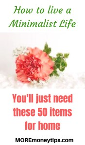 How to live a minimalist Life. You'll just need these 50 items for home.
