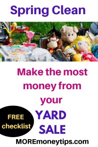Spring Clean. Make the most money from your YARD SALE.
