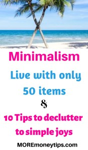Minimalism. Live with only 50 items.