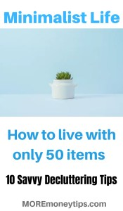 Minimalist Life. How to live with only 50 items.