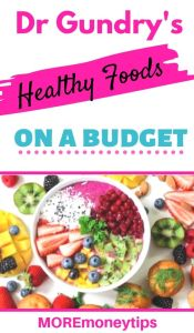 Dr Gundry's Healthy Foods on a Budget.