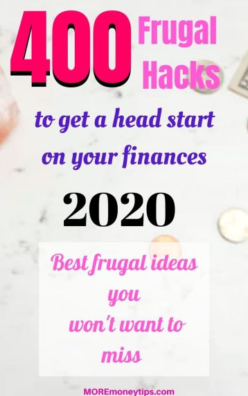 400 Frugal Hacks to get a head start on your finances.