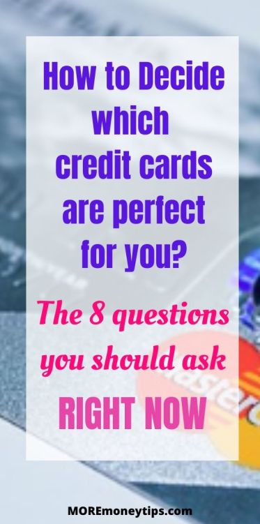 Which credit cards are perfect for you?