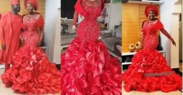 See the Dress People Are Talking About After Actress, Mercy Johnson Rocked It to Her Baby's Dedication