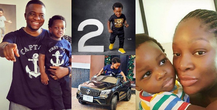 OAP Toolz and her husband celebrate their son's 2nd birthday (Photos)
