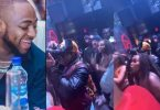 Davido laughs and dances on as lady insults him at a club in US (Video)