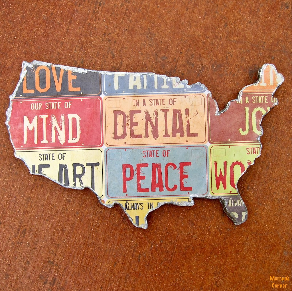 Us Map Wall Art how to make your own us map wall art - morena's corner
