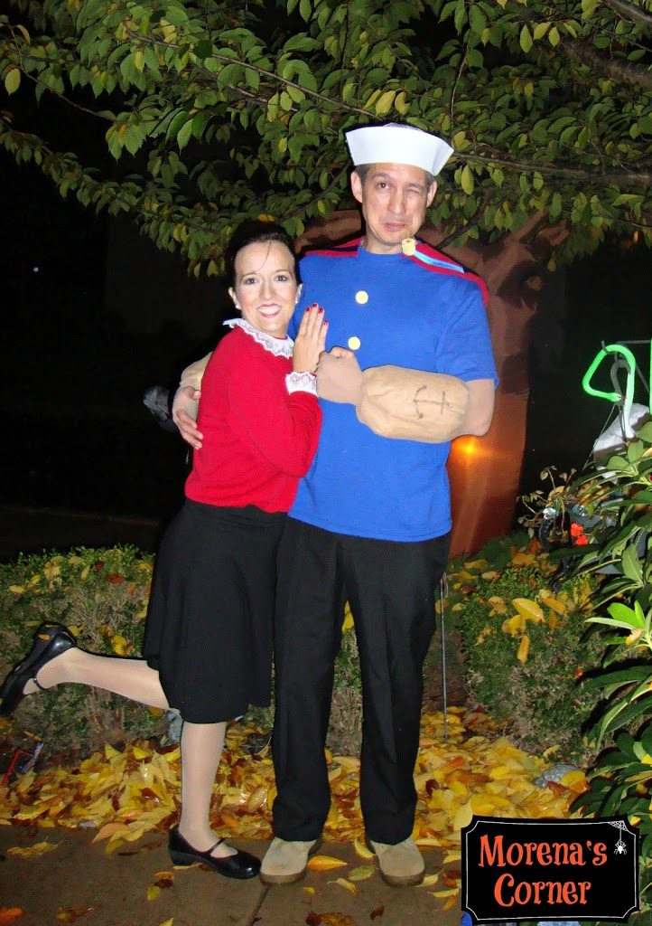 Diy couples costume popeye and olive oyl and swee pea too diy couples costume popeye and olive oyl and swee pea too solutioingenieria Image collections