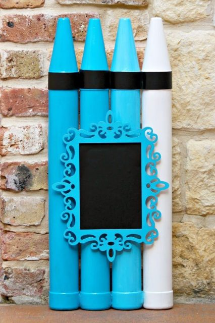 Turn crayon banks into a chalkboard photo prop. Use multisurface paint with Dollar Tree banks to create back to school photo props.