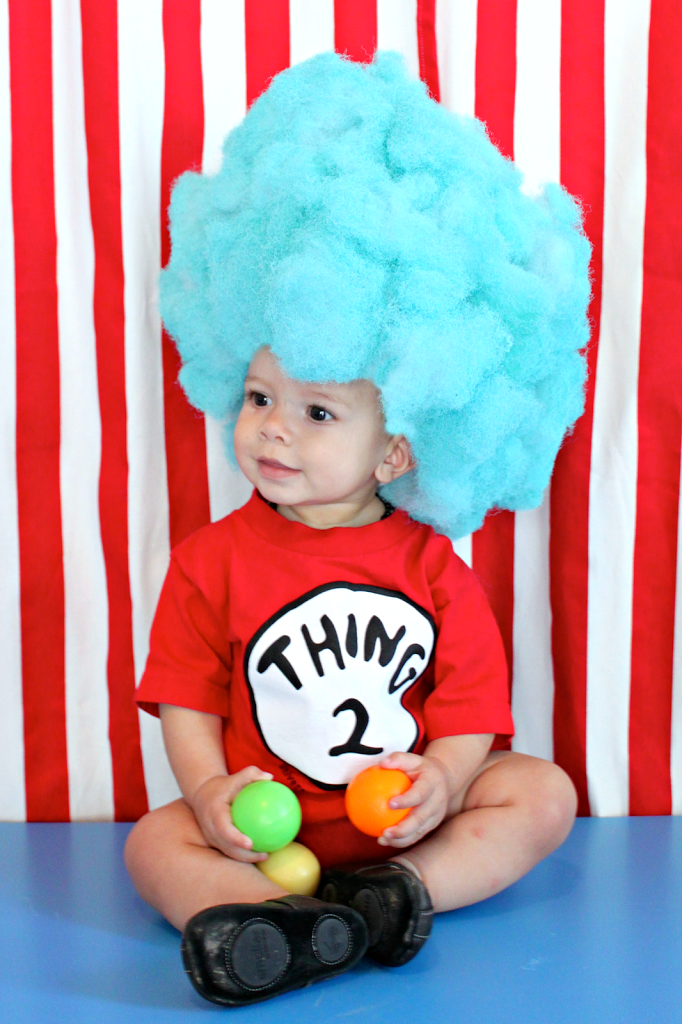 Make a thing 1 and thing 2 wig for your diy halloween costume make a thing 1 and thing 2 wig for your diy halloween costume solutioingenieria Images