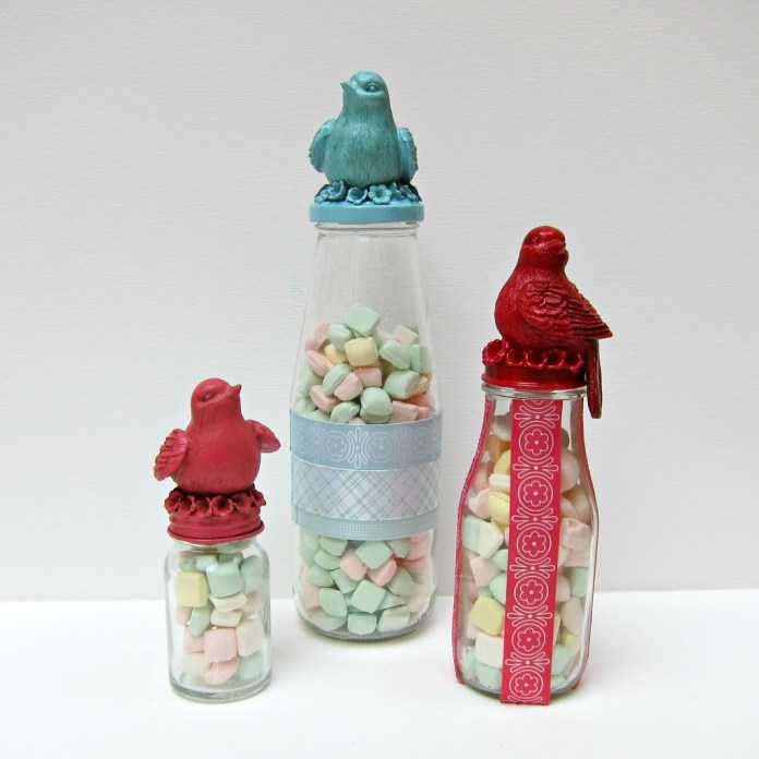 Recycled Decorative Jars for Organizing and Gift Giving