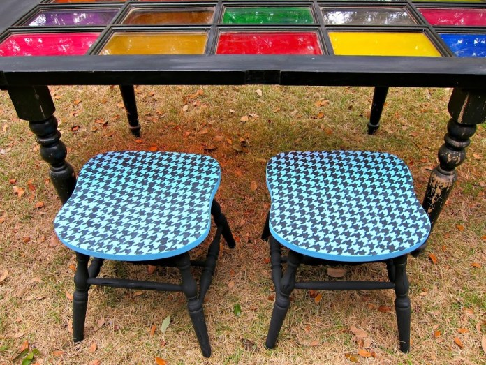 Pair-Chalky-Finish-Painted-Stools