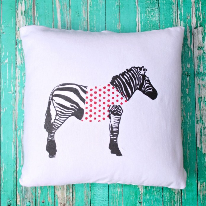 zebra pillow diy