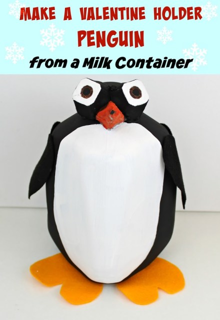 This Valentine holder penguin will be the hit of the class party!
