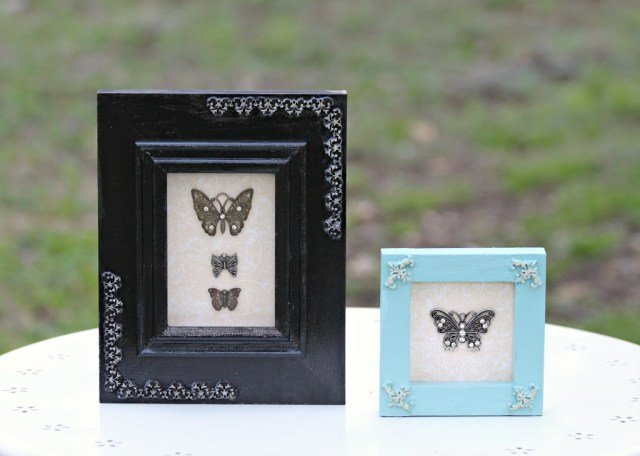 Use clay to transform plain unfinished wood frames,