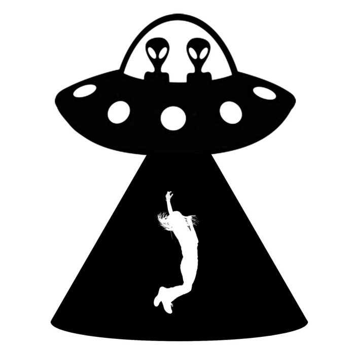 """To """"celebrate"""" March 20, Alien Abduction Day, make this fun sign to warn folks of impending alien danger! Free printables with tutorial."""