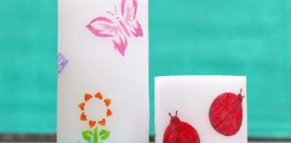 Stenciled candles