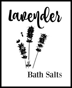 Lavender Bath Salt DIY with Custom Foil Labels