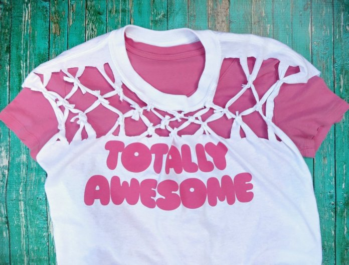 Learn how easy it is to create a cool diamond pattern by just cutting and tying t-shirt strips
