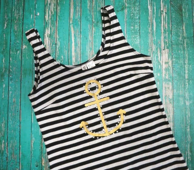 Nautical Tank Top Tutorial