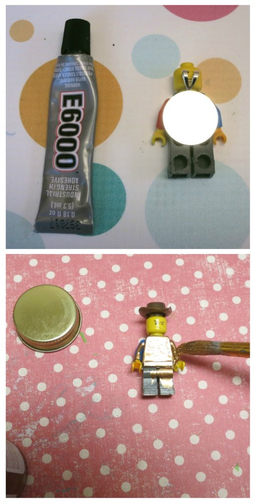 Make your own gold LEGO minifigure pendant to wear when you visit the Lego Americana Roadshow at North Star Mall in Texas.