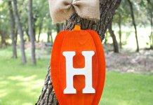 Pumpkin Monogram Fall Wall Decor DIY