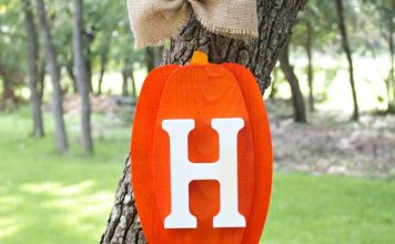 Pumpkin Monogram Fall Wall Decor DIY