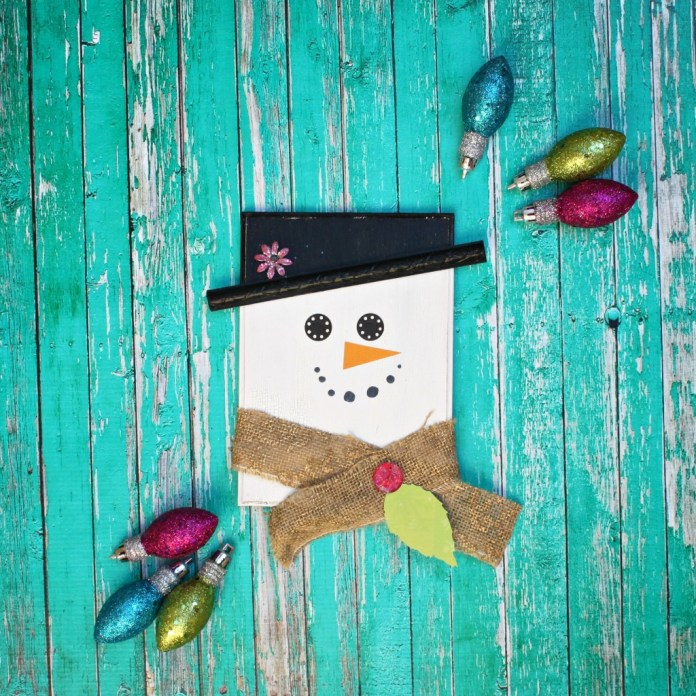 Use a wood plaque and a few scrapbooking embellishments to make adorable snowman decor to decorate your home with this winter.