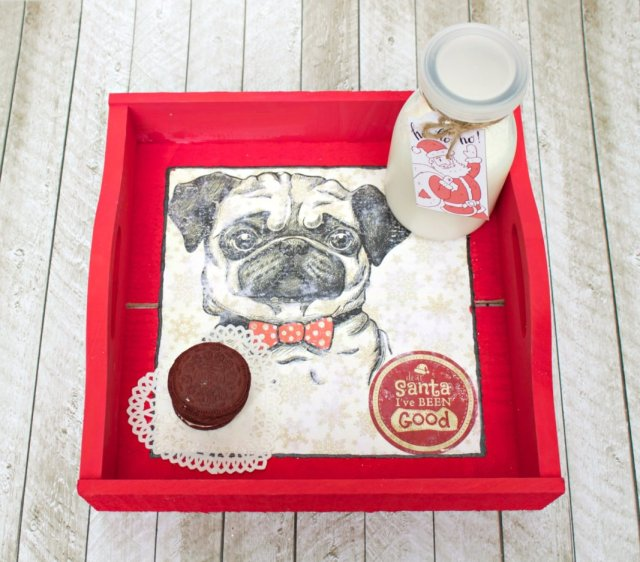 Learn how to use design elements from FontBundles.net with Mod Podge Transfer to create an adorable custom Christmas tray.