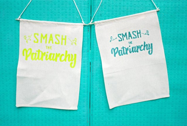 """Smash the patriarchy"" with free cut files and a free printable.  Use the file to cut vinyl to create a variety of projects."