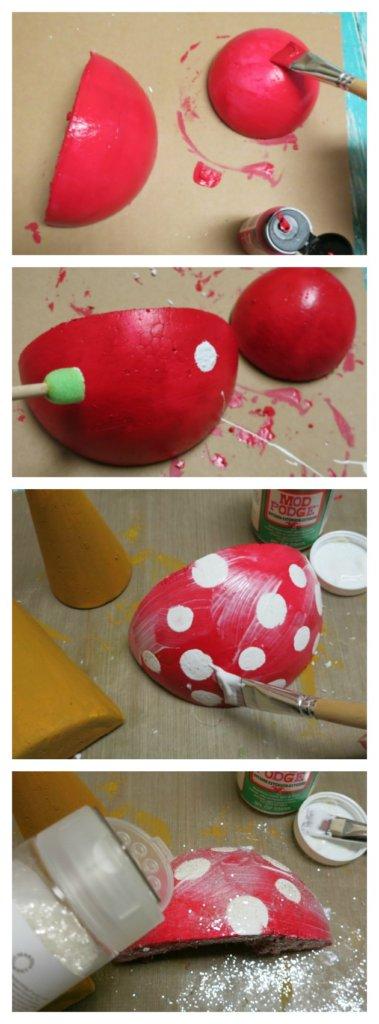 how to paint styrofoam