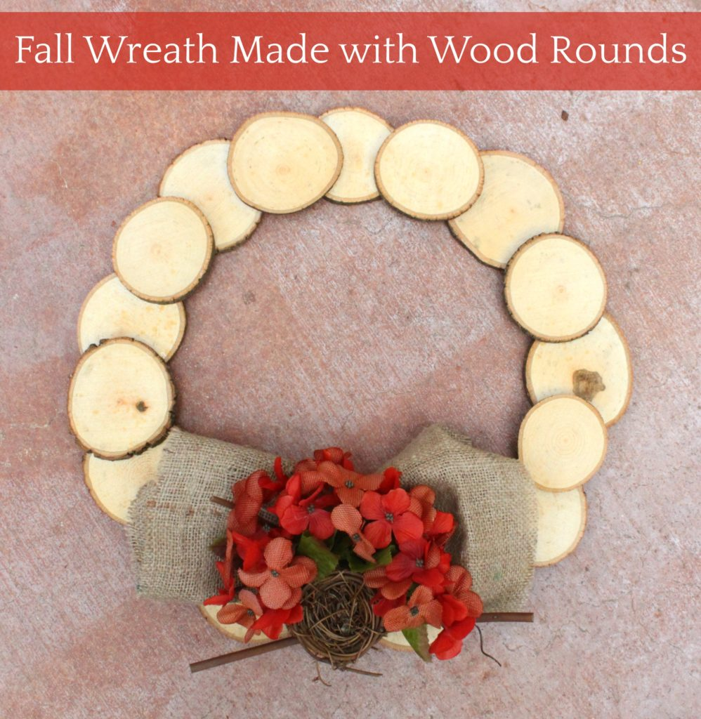 wood rounds wreath