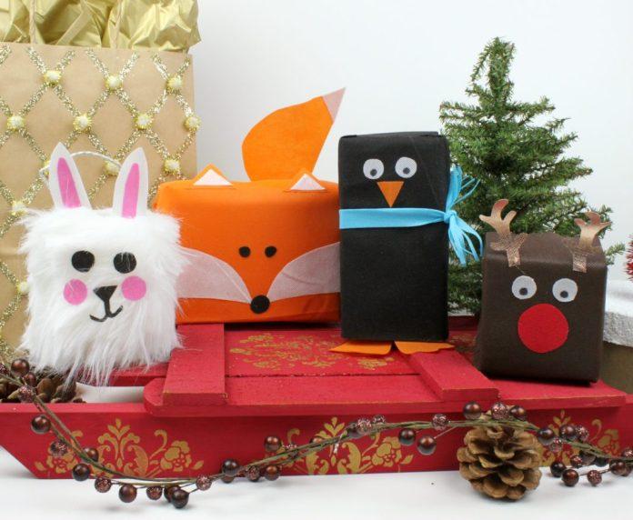 learn to make animal shape gift wrap