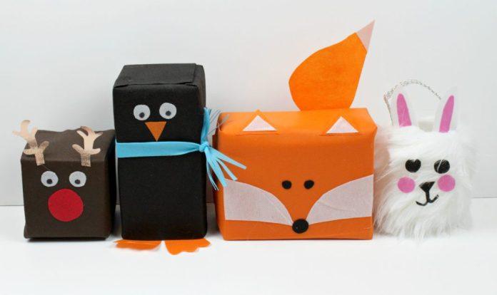 woodlands animal gift wrap tutorial
