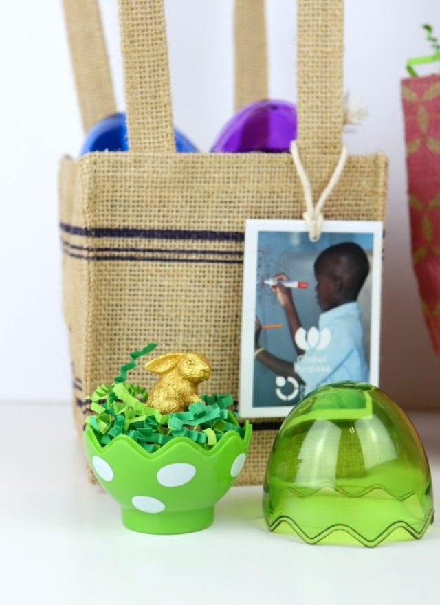 This teeny Easter gold bunny miniature cloche will make adorable desk decor and a sweet little gifts for your friends
