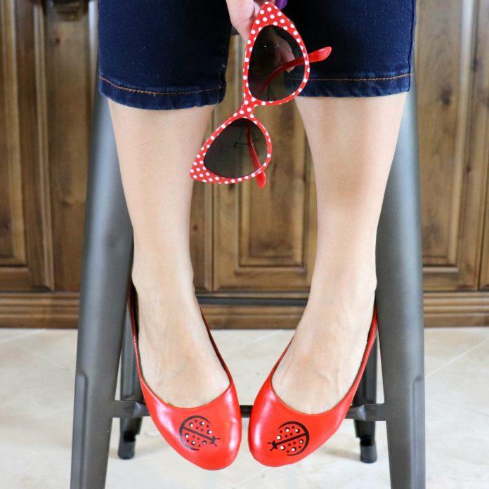 ladybug shoes tutorial