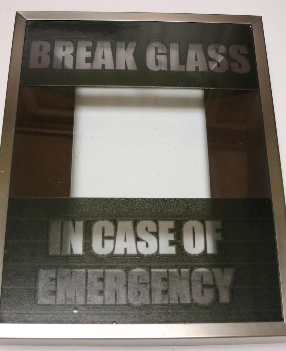 graphic regarding In Case of Emergency Break Glass Printable known as Split Gl inside of Scenario of Unexpected emergency Sweet Decor - Morenas Corner
