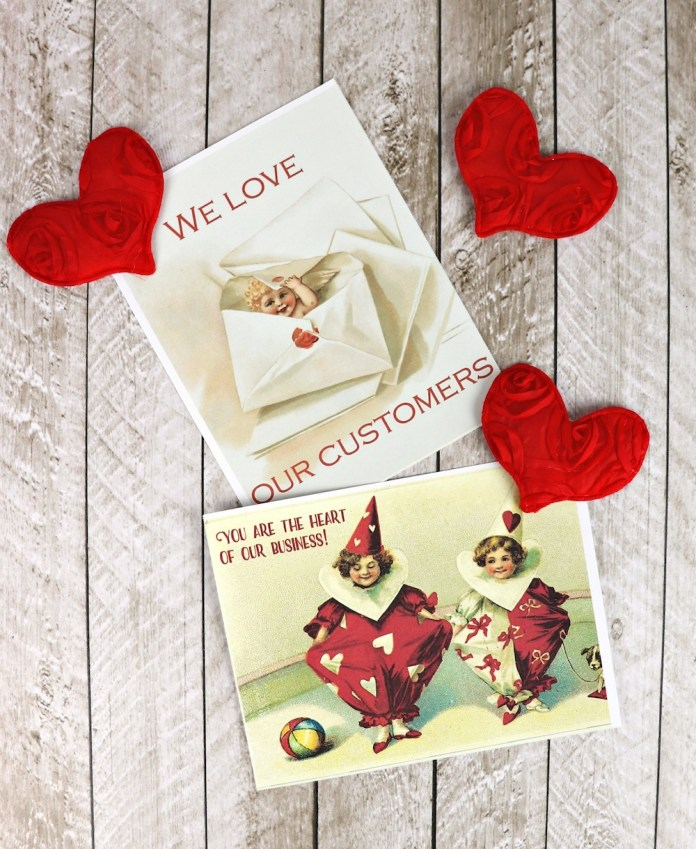 Make Valentine's Day postcards using these free printables with postcards from OnlineLabels.com.