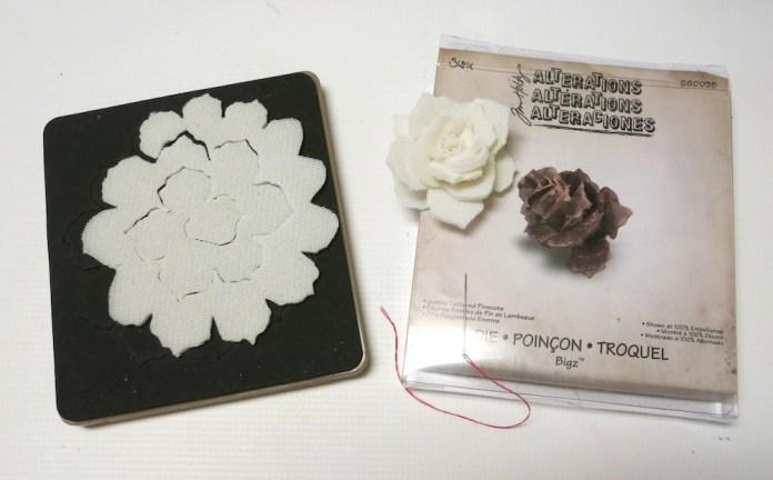 faux concrete flowers tutorial