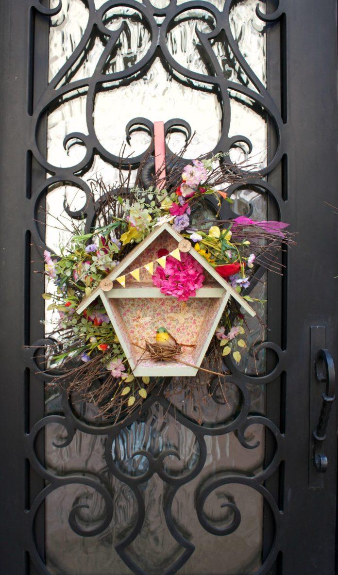 birdhoue wreath DIY
