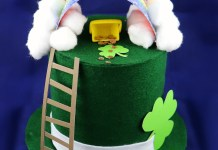 Make a leprechaun trap with your kids to help decorate for St. Patrick's Day.