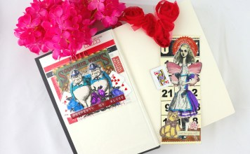 Book Lovers Day Crafts: Wonderland Bookmark and Bookplate