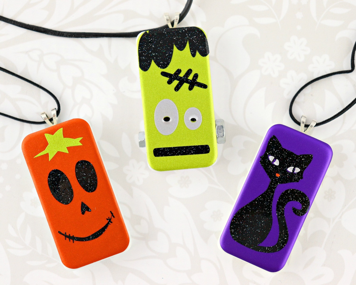 Halloween domino pendants