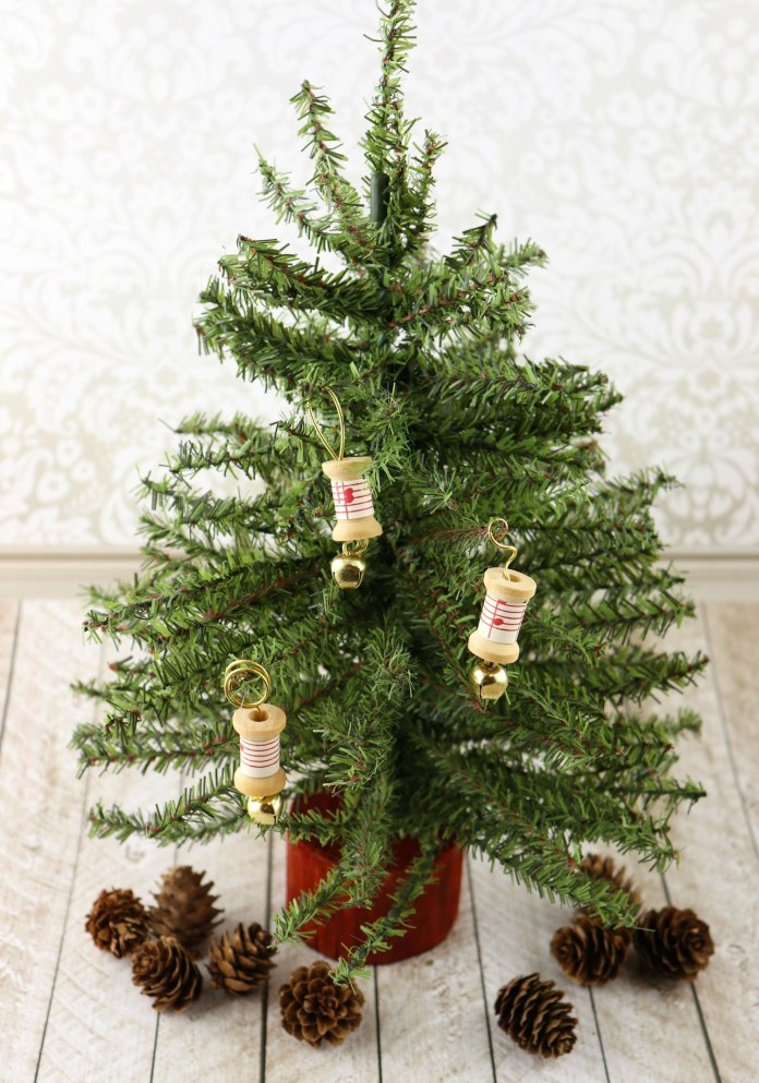 Wood Spool Ornaments